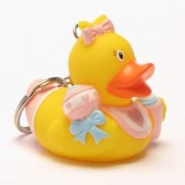 Schlüsselanhänger Baby Badeente Mädchen - Bild vergrößern