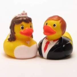 Quietscheentchen Brautpaar  - Bild vergrößern
