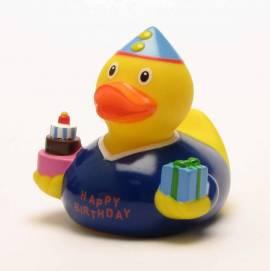 Geburtstags Badeente Junge - Bild vergrößern
