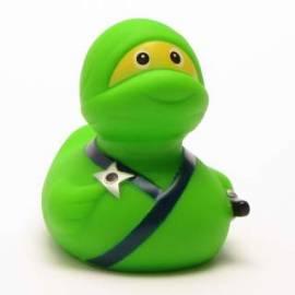 Quietscheentchen Ninja grün - Bild vergrößern