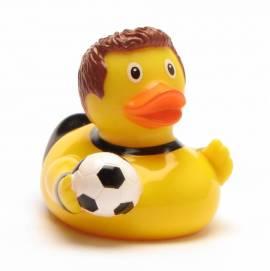 Fußballer Quietscheente schwarz-gelb - Bild vergrößern