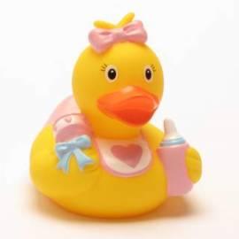 Badeente Baby Mädchen - Bild vergrößern