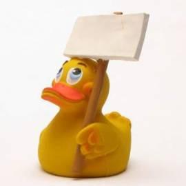 Welcome Duck mit Schild - Bild vergrößern