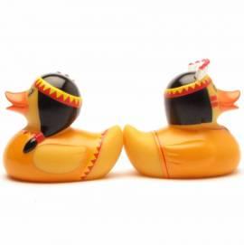 Quietscheentchen Indianerpaar orange - Bild vergrößern