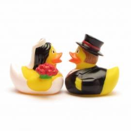 Brautpaar Mini Quietscheenten - Bild vergrößern